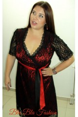 Portal red dress in plus size