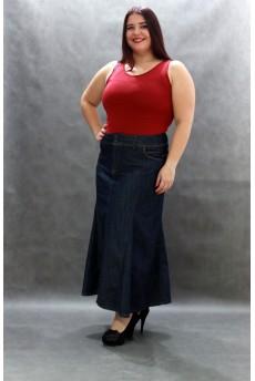 Suknja Best od dzinsa dugacka
